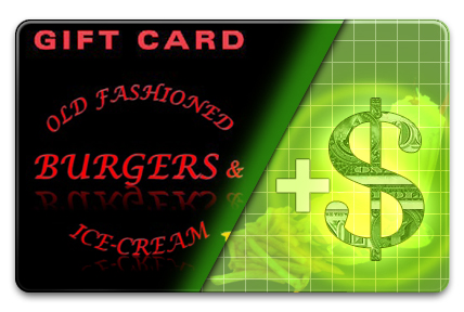 Add Value to your Old Fashioned Burgers & Ice-cream Gift Card