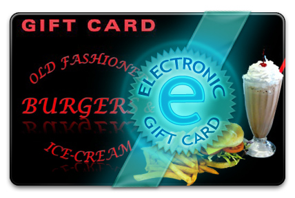 Old Fashioned Burgers & Ice-cream E-Gift Card